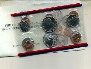 1989 P AND D UNITED STATES MINT SET