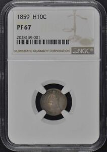 Click now to see the BUY IT NOW Price! 1859 SEATED HALF DIME H10C NGC PR67