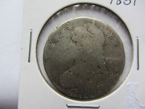 1831 CAPPED BUST HALF DOLLAR DAMAGED FILLER NICE DISCOUNT   SEE PHOTOS