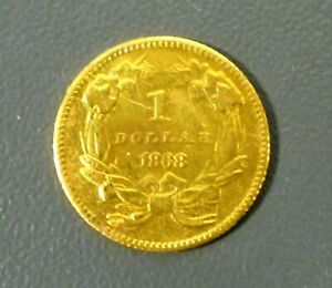 1868 $1 PRINCESS HEAD GOLD COIN LOW MINTAGE