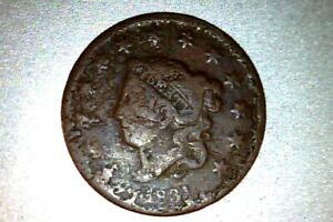 1831 LARGE CENT     DAMAGE