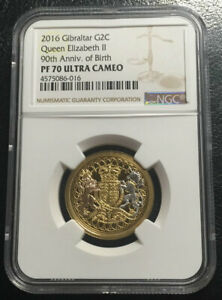 Click now to see the BUY IT NOW Price! GIBRALTAR 2 CROWN GOLD 2016 NGC PF70UC TOP GRADE MINTAGE LOW THAN 99 PIECES