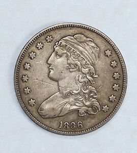 BARGAIN 1836 CAPPED BUST QUARTER EXTRA FINE SILVER 25C
