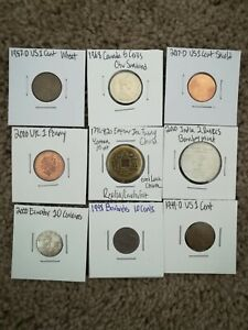 9 COIN LOT: MIXED COINS