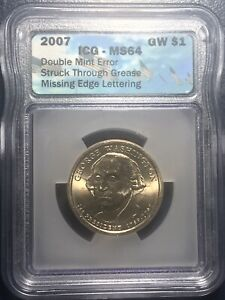 2007 GEORGE WASHINGTON DOLLAR DOUBLE MINT ERROR.