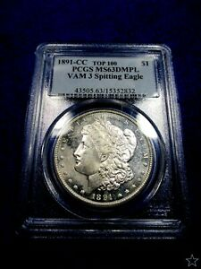 Click now to see the BUY IT NOW Price! 1891 CC MORGAN DOLLAR MS63 DMPL VAM 3 PCGS SPITTING EAGLE PQ  CAMEO COIN POP 9