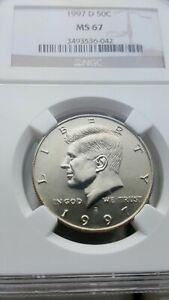 Click now to see the BUY IT NOW Price! VERY  KENNEDY 50C 1997 D NGCS   MS67    LUSTROUS SPOT FREE UN TONED