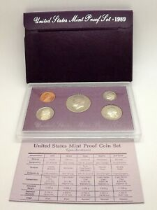 1991 S US MINT PROOF SET KENNEDY HALF DOLLAR BIRTH YEAR SET NICE