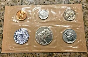 1960 PROOF SET WITH COA  FLAT PACK ORIGINAL ENVELOPE  US SILVER MINT COIN SET
