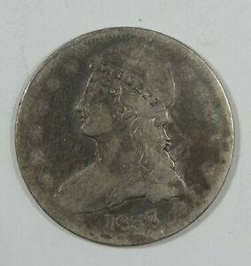 1837 CAPPED BUST/REEDED EDGE HALF DOLLAR GOOD SILVER 50 CENTS