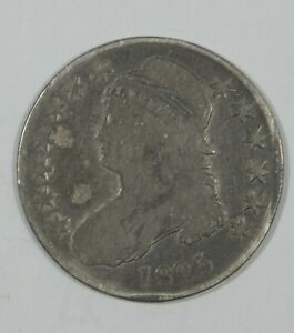 1825 CAPPED BUST/LETTERED EDGE HALF DOLLAR GOOD SILVER 50C
