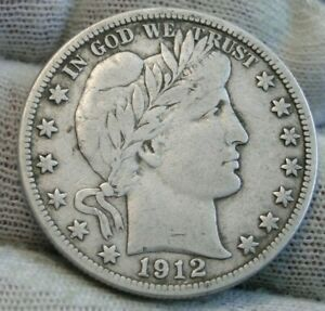 1912D BARBER HALF DOLLAR 50 CENTS KEY DATE 695 080 MINTED NICE COIN  9608