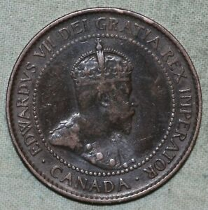 1904 CANADA LARGE BRONZE CENT KM3 8