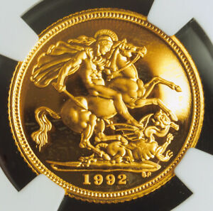 Click now to see the BUY IT NOW Price! 1992 GREAT BRITAIN ELIZABETH II. PROOF GOLD  SOVEREIGN COIN. NGC PF 67 UC