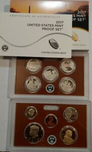 2017 US MINT PROOF SET. COMPLETE 10 COIN SET WITH BOX & COA