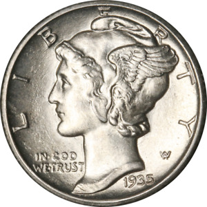 1935 S MERCURY DIME GREAT DEALS FROM THE EXECUTIVE COIN COMPANY