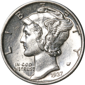 1937 P MERCURY DIME GREAT DEALS FROM THE EXECUTIVE COIN COMPANY