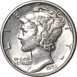 1938 S MERCURY DIME GREAT DEALS FROM THE EXECUTIVE COIN COMPANY