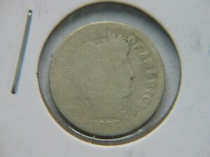1897 O BARBER DIME  KEY DATE CLEANED