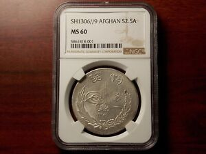 Click now to see the BUY IT NOW Price! SH1306//9 AFGHANISTAN 2 1/2 AFGHANI SILVER COIN NGC MS 60