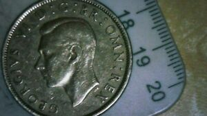 OLD GREAT BRITAIN COIN   1951 HALF CROWN   CIRCULATED COATED LOT 6