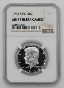 Click now to see the BUY IT NOW Price! 1965 SMS KENNEDY HALF DOLLAR 50C NGC CERTIFIED MS 67 MINT UNC   ULTRA CAMEO  001