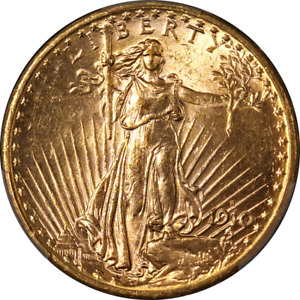 1910 S SAINT GAUDENS GOLD $20 PCGS MS63 GREAT EYE APPEAL STRONG STRIKE