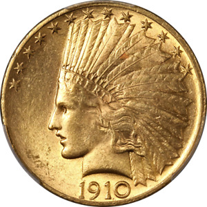 1910 P INDIAN GOLD $10 PCGS MS62 GREAT EYE APPEAL STRONG STRIKE