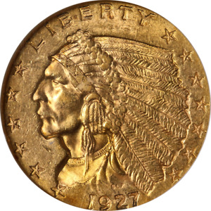 1927 INDIAN GOLD $2.50 NGC MS61 NICE EYE APPEAL NICE LUSTER STRONG STRIKE