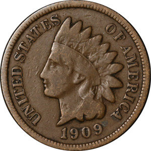 1909 S INDIAN CENT NICE VG  KEY DATE SUPERB EYE APPEAL STRONG STRIKE