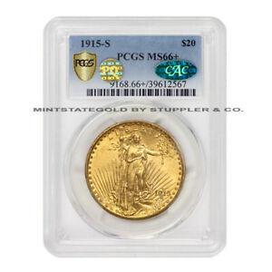 Click now to see the BUY IT NOW Price! 1915 S $20 GOLD SAINT GAUDENS PCGS MS66  CAC CERTIFIED PQ APPROVED  SAN FRAN