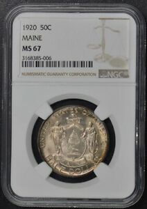 MAINE 1920 SILVER COMMEMORATIVE 50C NGC MS67