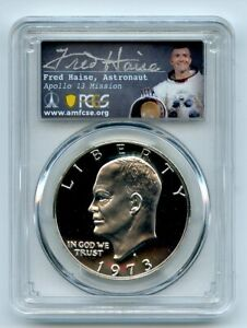 Click now to see the BUY IT NOW Price! 1973 S $1 SILVER IKE EISENHOWER DOLLAR PROOF PCGS PR70DCAM FRED HAISE