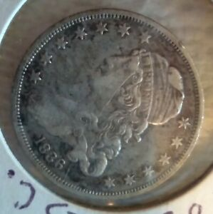 1836 25C CAPPED BUST SILVER QUARTER  XF DETAILS  $1 100 VALUE  HIGH GRADE