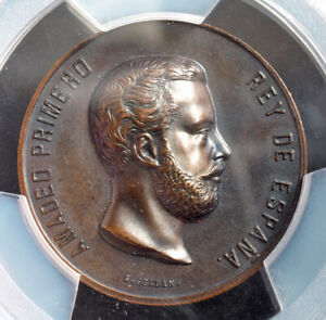 Click now to see the BUY IT NOW Price! 1870 KINGDOM OF SPAIN. BRONZE