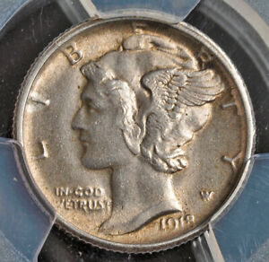 Click now to see the BUY IT NOW Price! 1918 S UNITED STATES OF AMERICA. BEAUTIFUL SILVER MERCURY DIME COIN. PCGS MS63