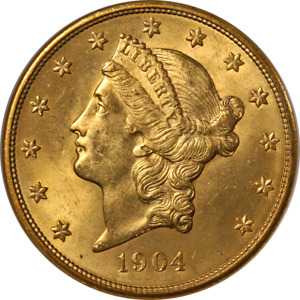1904 P LIBERTY GOLD $20 NGC MS64 CAC STICKER SUPERB EYE APPEAL STRONG STRIKE
