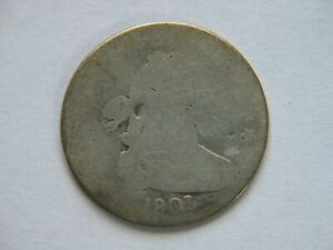 1801 DRAPED BUST DIME  KEY DATE EARLY TYPE COIN FULL DATE SHOWS GOOD FILLER