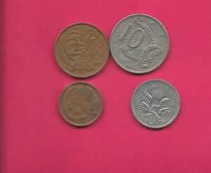 AUSTRALIA 4 DIFF DIFFERENT  1966 2006   COIN LOT COLLECTION SET GROUP  INC OLD