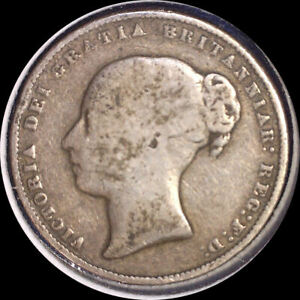 Click now to see the BUY IT NOW Price! GREAT BRITAIN 1867 SHILLING 11 DIE NUMBER OLD STERLING SILVER WORLD COIN