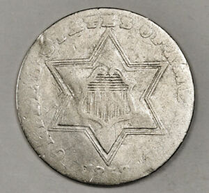1858 3 CENT SILVER.  CIRCULATED.  152657