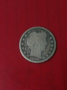 1899 BARBER QUARTER DOLLAR   SILVER 121 YEAR OLD COIN