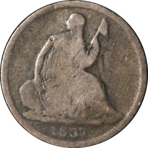 1837 SEATED LIBERTY HALF DIME   NO STARS GREAT DEALS FROM THE EXECUTIVE COIN COM