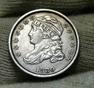 1830 CAPPED BUST DIME 10 CENTS JR 2   NICE COIN    8811