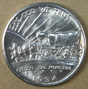 50C OREGON TRAIL 1934 D COMMEMORATIVE HALF DOLLAR CHOICE BU   AVENUECOIN