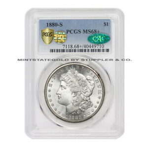 Click now to see the BUY IT NOW Price! 1880 S $1 SILVER MORGAN DOLLAR PCGS MS68  PQ CAC CERTIFIED SAN FRANCISCO COIN
