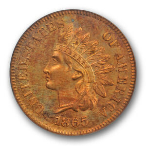 Click now to see the BUY IT NOW Price! 1865 1C PROOF INDIAN HEAD CENT PCGS PR 64 RD PF FULL RED TOUGH DATE PRETTY