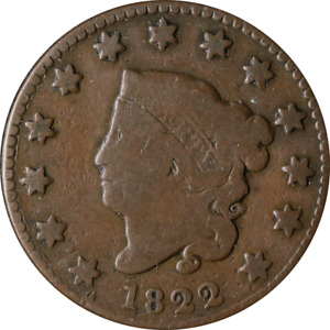 1822 LARGE CENT GREAT DEALS FROM THE EXECUTIVE COIN COMPANY