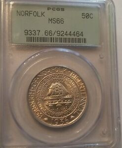 1936 NORFOLK COMMEMORATIVE HALF MS66 PCGS MS 66