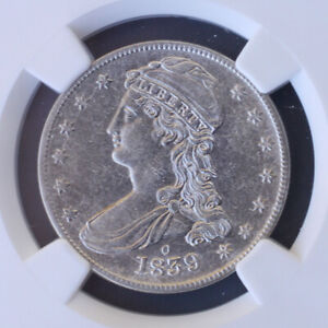 1839 O CAPPED BUST HALF DOLLAR REEDED EDGE NGC AU50  3496504 007